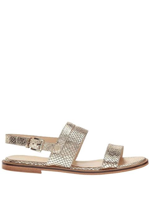 Nine West %100 Deri Sandalet Altın